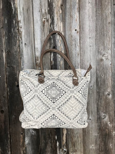 Myra Artisan Canvas Tote Bag