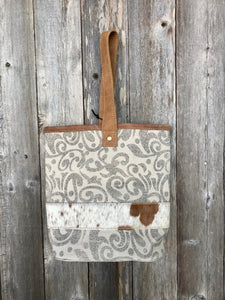 Myra Leaf Print Double Wine Bag