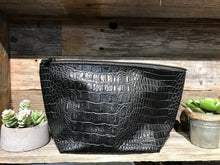 Load image into Gallery viewer, Large Cosmo Faux Gator Bag