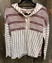 Load image into Gallery viewer, Striped Hooded Longsleeve