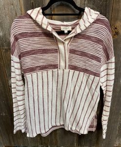 Striped Hooded Longsleeve