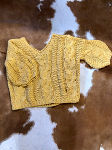 Hand-Made Slouchy Cable-Knit Sweater