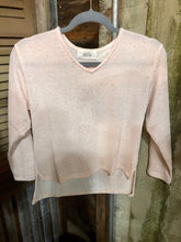 Load image into Gallery viewer, Girls Pale Pink V-Neck Sweater