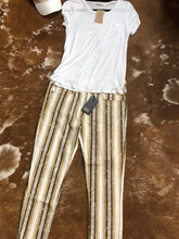 Load image into Gallery viewer, Brown Serape Frayed Skinny Jeans