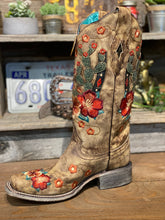 Load image into Gallery viewer, Corral Boots Cactus and Flower Embroidered Boots