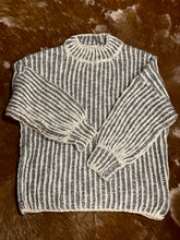 Load image into Gallery viewer, Two Tone Grey Sweater
