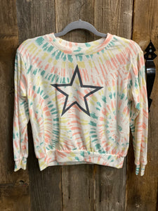 Kids Tiedye Star Sweater