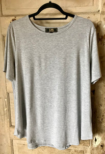 Basic Crew Neck Tee- Heather Grey