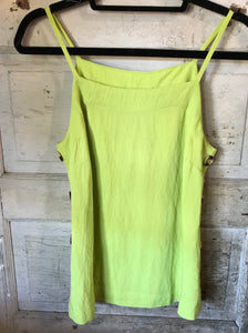 Lime Square Neck Tank