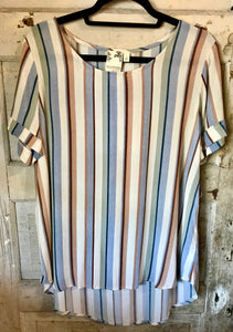 Striped Multi Color- Short Sleeve