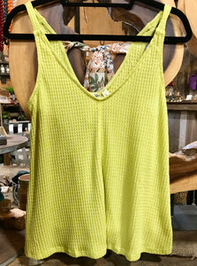 Lime Tie Back Tank