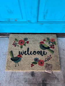 Karma Welcome Mat- Bird