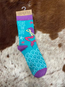 Karma Socks - Mermaid Blue