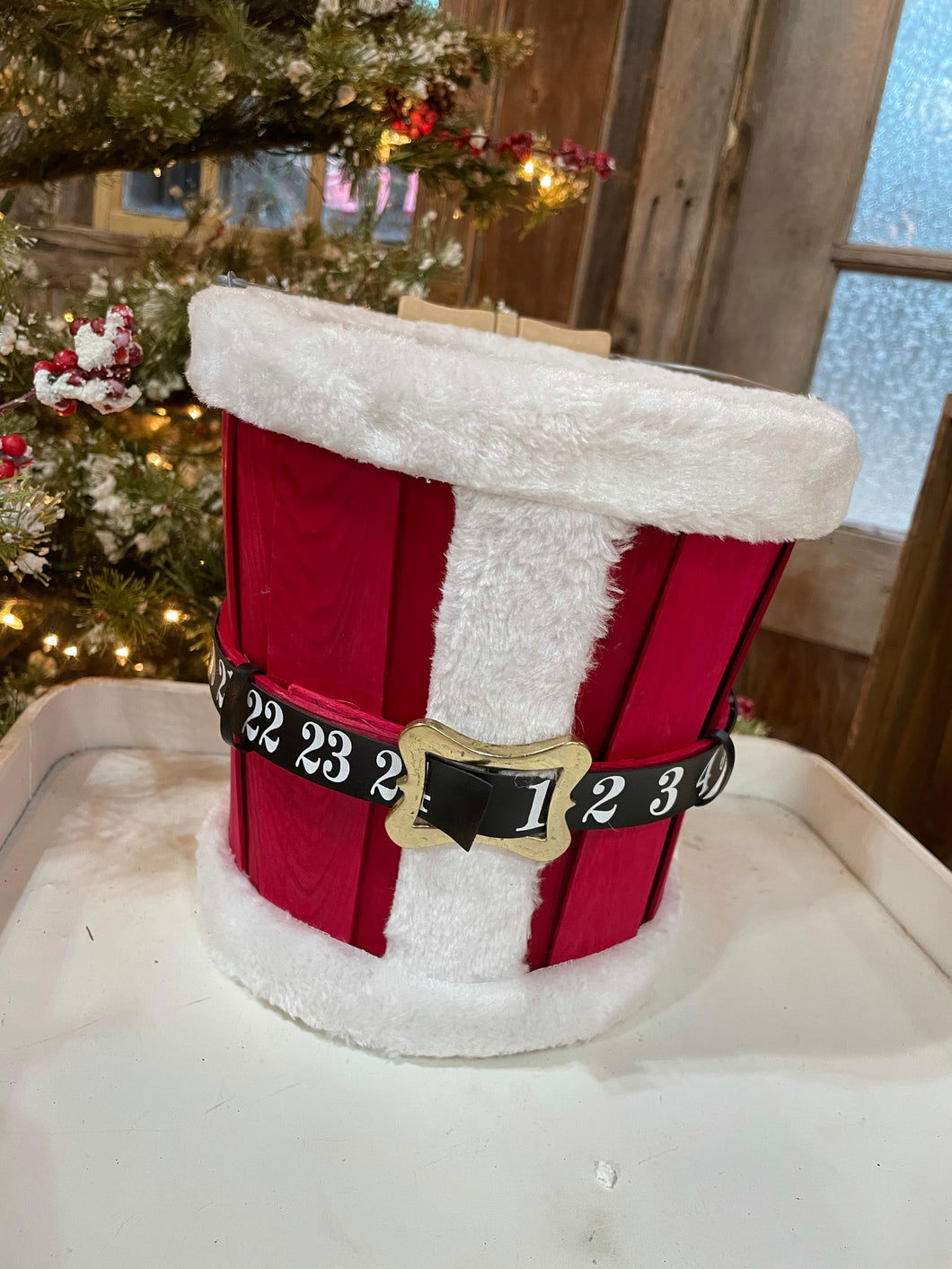 Santa suit- Countdown to Christmas Bucket