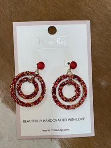 Amber Hoops Earrings