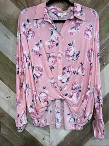 Floral Crossbody Button Up