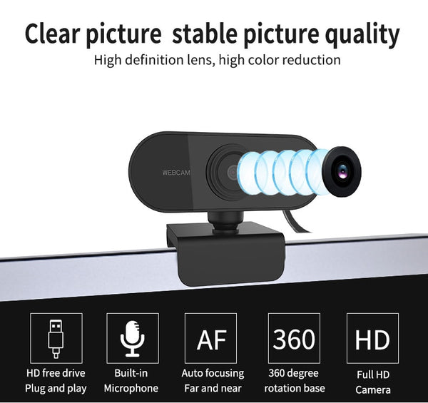 Webcam 1080P HD With Microphone