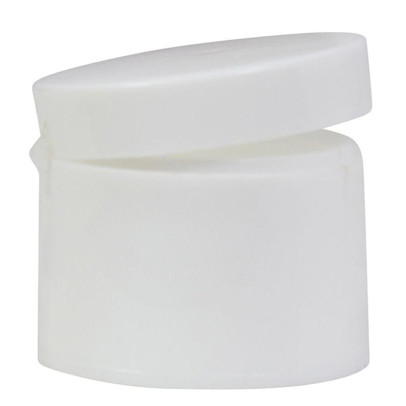 24/410 White Smooth Flip Top - Lucemill