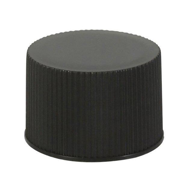 24/410 Black Ribbed Screw Cap - Lucemill