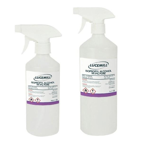 Isopropyl Alcohol 99.9% Pure Trigger Spray Bottle - Lucemill