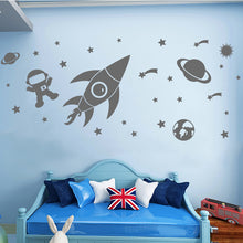 Load image into Gallery viewer, Outer Space and Planets Wall Stickers for Kids Room