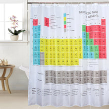 Load image into Gallery viewer, Periodic Table Shower Curtain