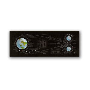 Apollo 11 Lunar Landing Mission Chart canvas print