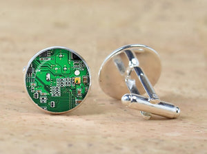 Computer Circuit Board Cufflinks