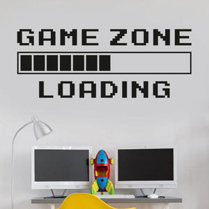 Game Room Game Zone Loading Wall Decal