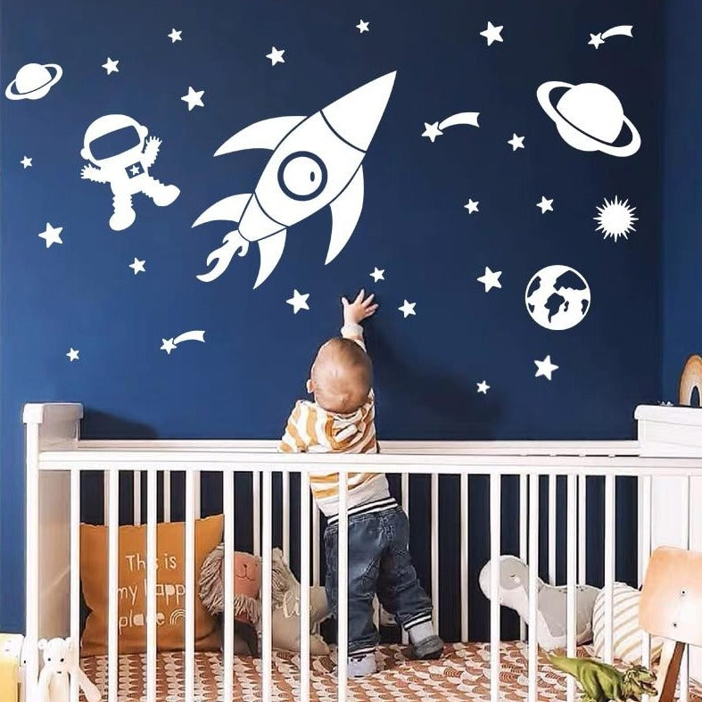 Outer Space and Planets Wall Stickers for Kids Room