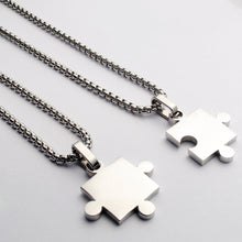 Load image into Gallery viewer, Stainless steel jigsaw pieces couples pendants