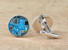 Load image into Gallery viewer, Computer Circuit Board Cufflinks