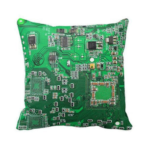 Computer Geek Circuit Board  Throw Pillow Case