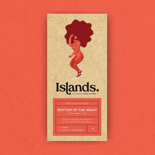 Islands Chocolate | Rhythm of the Night – 100% Dark (Vegan) 70g