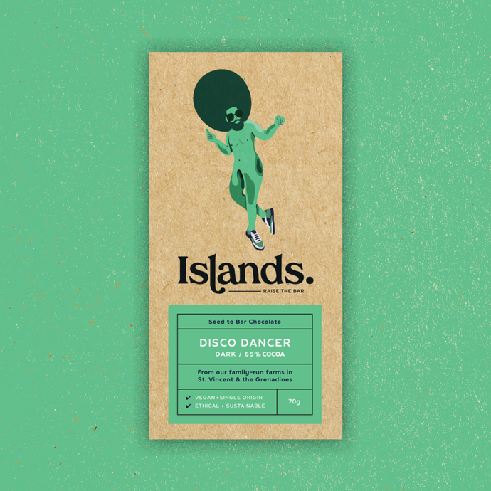 Islands Chocolate | Disco Dancer – 65% Dark (Vegan) 70g