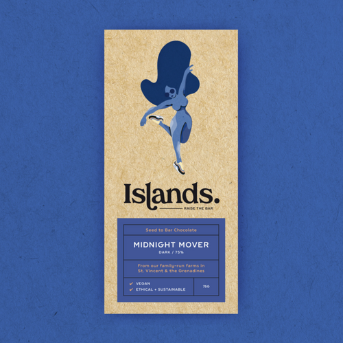 Islands Chocolate | Midnight Mover – 75% Dark (Vegan) 70g