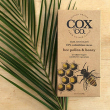 Load image into Gallery viewer, Cox & Co | Bee Pollen & Honey 61% Cacao 70g