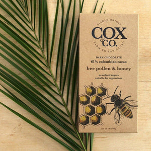Cox & Co | Bee Pollen & Honey 61% Cacao 70g