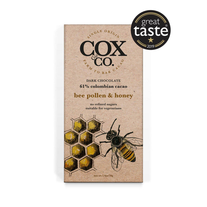 Cox & Co | Bee Pollen & Honey 61% Cacao