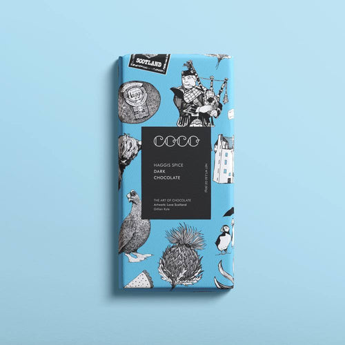 Coco Chocolatier | Haggis Spice Dark Chocolate Bar (Vegan) 80G