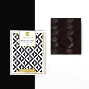 Love Cocoa | Peruvian 70% Dark Chocolate Bar (Vegan) 75G