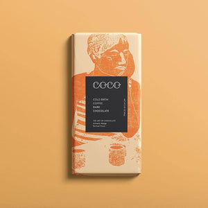 Coco Chocolatier | Cold Brew Coffee Dark Chocolate Bar (Vegan) 80G