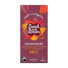 Load image into Gallery viewer, Seed & Bean | Sicilian Hazelnut Dark Chocolate Bar
