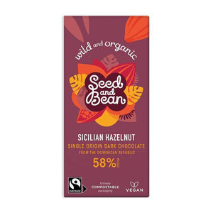 Seed & Bean | Sicilian Hazelnut Dark Chocolate Bar
