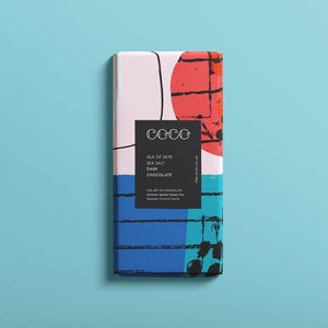 Coco Chocolatier | Isle of Skye Sea Salt Dark Chocolate Bar (Vegan) 80G