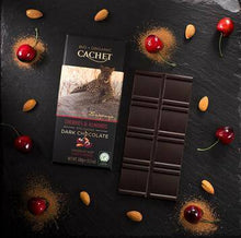 Load image into Gallery viewer, Cachet | Organic Cherry & Almond 57% Dark Chocolate Bar 100G