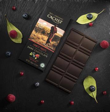 Cachet | Organic Forest Fruits 57% Dark Chocolate Bar 100G