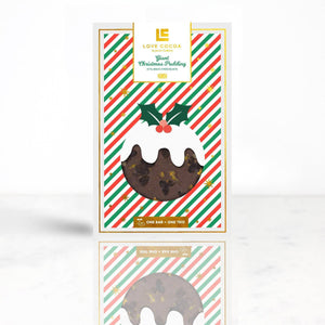 Love Cocoa Milk Chocolate Giant Christmas Pudding Bar