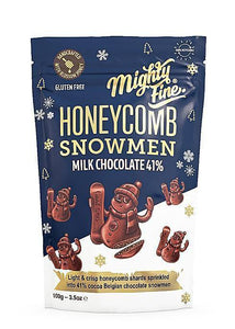 Mighty Fine | Honeycomb Chocolate Snowmen