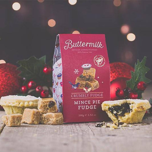 Buttermilk | Crumbly Mince Pie Fudge Stocking Filler 100g